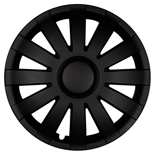 Eight Tec Handelsagentur (Größe wählbar) 16 Zoll Radkappen/Radzierblenden AGAT Schwarz passend für Fast alle Fahrzeugtypen – universal