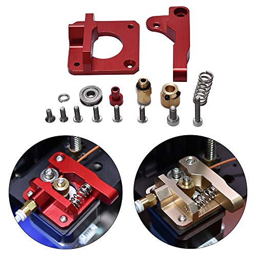 XIARUI Printer Accessories 3D Printer Parts MK8 Extruder Upgrade Aluminum Block bowden extruder 1.75mm Filament Extrusion for CR-7 CR-8 CR-10 Durable parts (Size : Champagne Right)