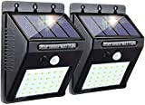 Solar Motion Light, Super Bright Sensor Garden Night Lights, 20 LED Waterproof Security Wall Lights Wireless Outdoor Powerful Detector LED Lights for Garage Door Path Walkway Patio Deck Shed (2 Packs