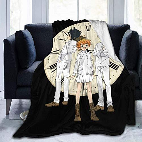 Promised Neverland - Manta suave para sofá o cama (152,4 x 127 cm)