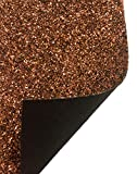 A-Express Tela Purpurina Lentejuelas Manualidades Vinilo Hoja Bolso decoración pared Costura Material - Bronce Rollo completo (210mm x 1350mm)