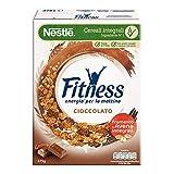 Fitness Cereali Fiocchi di Frumento e Fiocchi Ricoperti di Cioccolato al Latte, 375g