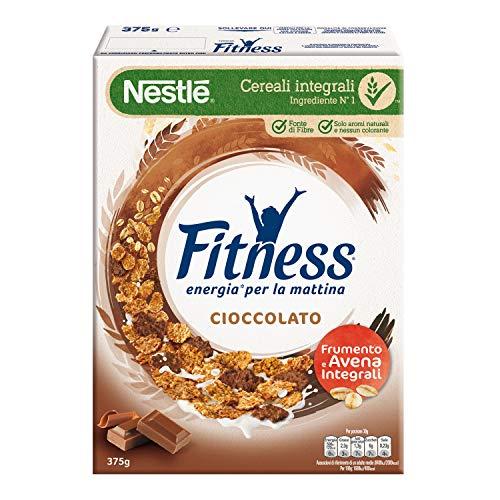 FITNESS Cereali con Frumento e Avena Integrali e Fiocchi Ricoperti di Cioccolato, 375 g