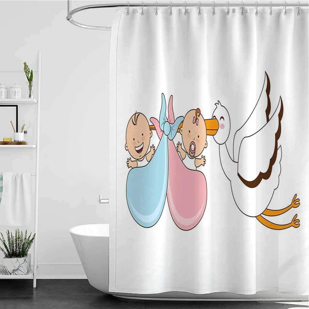 Shower Curtains for Popular products Bathroom New products, world's highest quality popular! White Mythical with Stork Babies Co