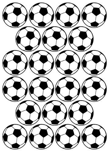 22 Aufkleber, Fußball, Sticker, 50 mm, aus PVC, Folie, bedruckt, selbstklebend, EM, WM, Bundesliga