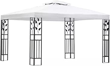 Festnight Gazebo Outdoor Garden Sunshade Vented Canopy for Party,Gatherings, Barbecues, Picnic White 3x4 m