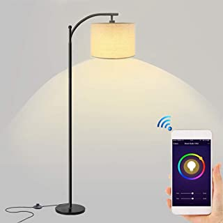 Floor Lamp,LED Smart Light,Dimmable Standing Industrial Arc Lamp,Floor Lamps for Living Room,Office,for Bedrooms(Compatible with Amazon Alexa Google Home)