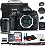 Canon EOS 7D Mark II DSLR Camera with 18-135mm f/3.5-5.6 is USM Lens & W-E1 Wi-Fi Adapter (9128B135) + Canon EOS Bag + Sandisk Ultra 64GB Card