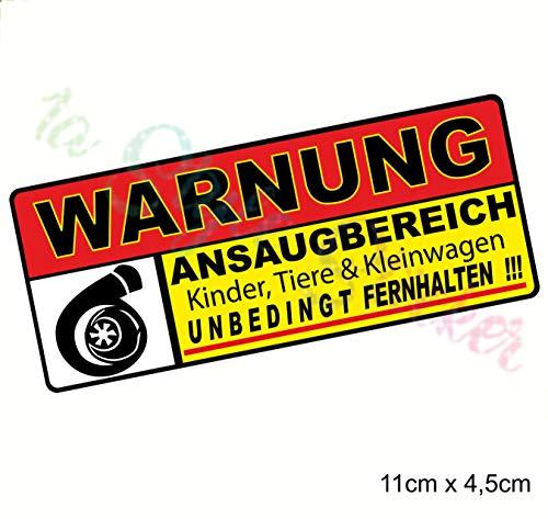 1A Style Sticker WARNUNG ANSAUGBEREICH -Turbo Auto Aufkleber,