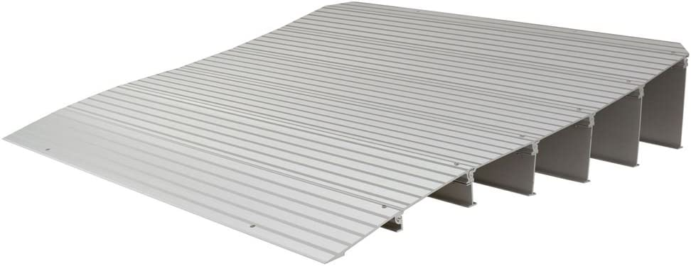 """Silver Spring 6-1/4"""" High Aluminum Mobility Threshold Ramp for Wheelchairs, Scooters, and Power Chairs : Health & Household"""