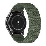 MroTech Compatibile con Huawei Watch GT 2 46 mm/GT 2e/GT2 PRO Cinturino 22 mm de Ricambio per Samsung Galaxy Watch3 45mm/Gear S3 Frontier/Galaxy 46mm Solo Loop Sportivo Elastica Nylon Banda-Verde/M