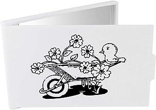 'Floral Wheelbarrow & Bird' Compact / Travel / Pocket Makeup Mirror (CM00024266)