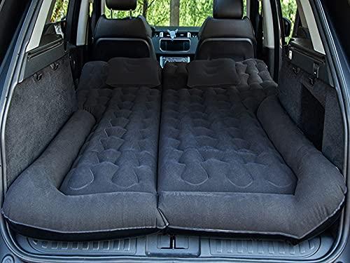 Honeyhouse Auto Matratze, Auto Luftmatratzen-Camping Aufblasbare Matratze-Aufblasbares Bett für alle SUV-Fahrzeuge und angepasst für Tesla Model S Model X 5 Seat und Model 3 Model Y (Black)