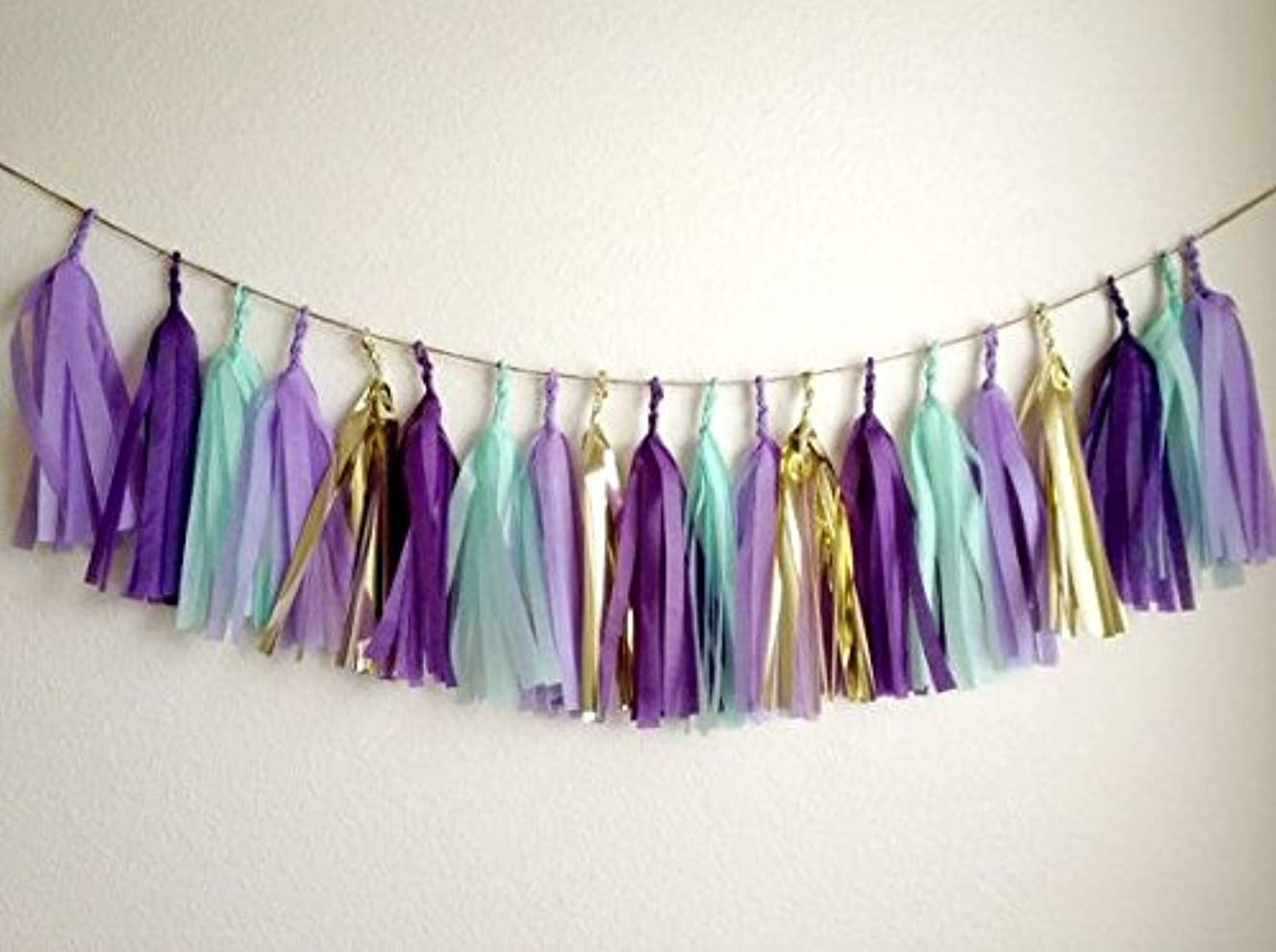 16 X Originals Group Purple Tissue Paper Tassels for Party Wedding Gold Garland Bunting Pom Pom