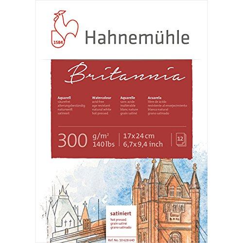 Hahnemuhle Britannia 300gsm Block - 17 x 24cm Hot Pressed
