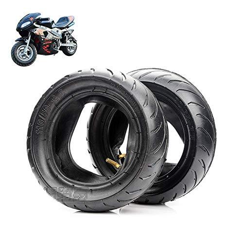 Neumáticos scooter eléctrico, s, 90/65-6.5/110/50-6.5 Neumáticos antideslizantes resistentes desgaste, adecuados accesorios neumáticos mini motocicleta/coche deportivo pequeño 49 cc, reemplazo neumát