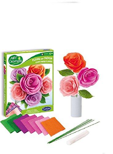Sentosphère - 3902001 - Kit d'Activité - Fleurs en Crépon Bouquet Champêtre