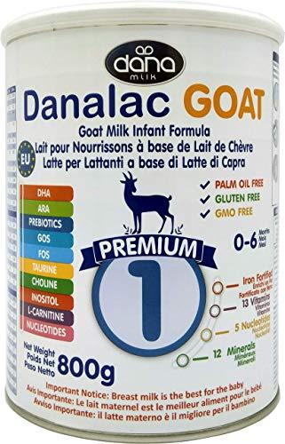 DANALAC PREMIUM Lait bébé en poudre à base de lait de Chèvre 1er âge pour nourrissons et bébés de 0 à 6 mois - Formule EU-2020 (800 g - Lot de Boîtes de 1)