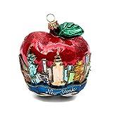 Holyart New York Apple Decorazione Vetro soffiato Albero Natale