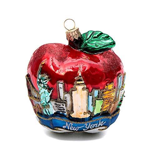 Holyart Blown Glass Christmas Ornament, New York Apple