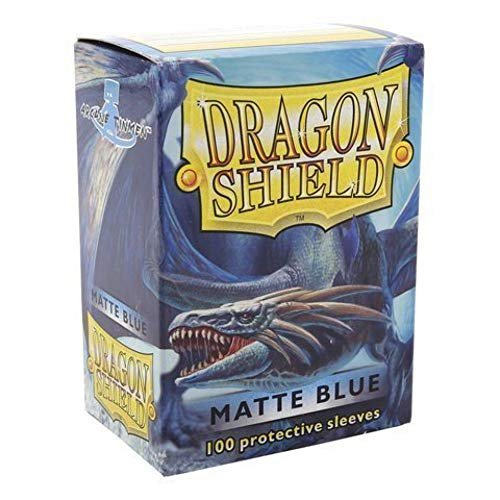 Dragon Shield Matte Blue 100 Deck Protective Sleeves in Box, Standard Size for Magic The Gathering (66x91mm)