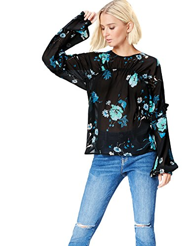 Marca Amazon - find. Blusa Estampada para Mujer, Multicolor (Multicoloured Mpr 302), 40, Label: M