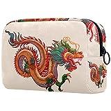 Bolsa de Maquillaje para niños Dragon Chino Accesorio de Viaje Neceser Pequeño Bolsas de Aseo Suave al Tacto Cosmético Organizadores de Viaje 18.5x7.5x13cm