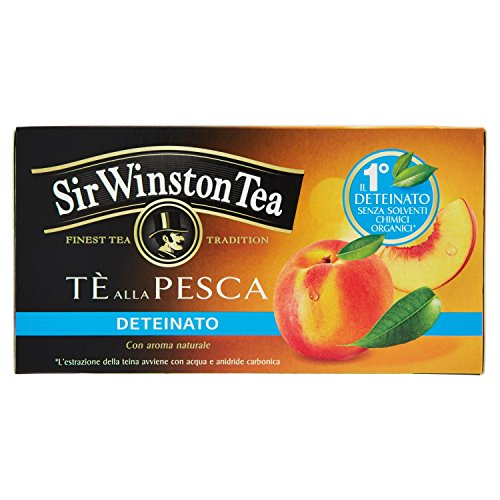 Sir Winston Tea Infusione per Bevande Calde, Pesca Deteinato, 20 x 1.5g