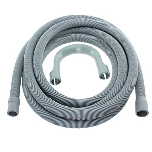 Spares2go extra lange waterslang voor whirlpool-wasmachine, 4 m; 19 mm en 22 mm aansluiting