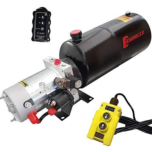 Hydraulikaggregat Casuroc 2.0, Hydraulikpumpe 12 V 180 bar 2000 Watt mit 8 Liter Stahltank, Funk