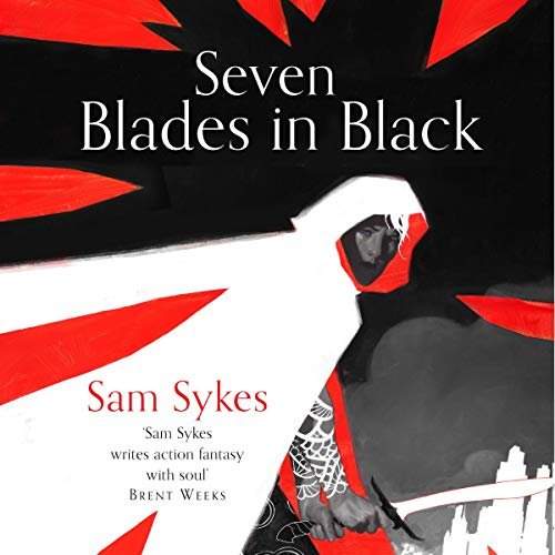 Seven Blades in Black audiobook cover art