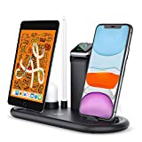 Zttopo Fast Wireless Charger,5 in 1 Wireless Charging Dock Station for Apple iWatch 5/4/3/2 AirPods Pro/Pencil Compatible with iPhone 11 Pro Max /11 /XS/XR/8/SE 2/Samsung Galaxy.(No iWatch Charger)