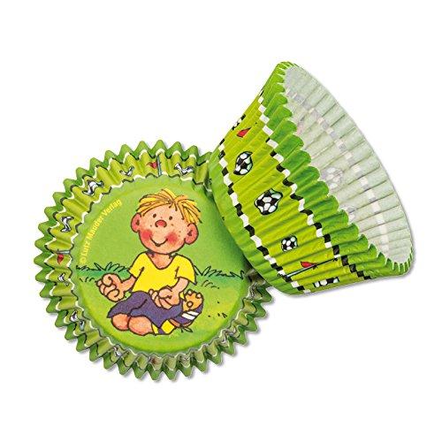 Mauder Lutz 11283 Lot de 40 caissettes à Muffins pour Enfant Motif Football/Footballeur