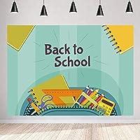 写真の新しい学校の背景250×180cm文房具ボックス卒業シーズンバックグラウンドキャンパスパーティーサプライズ装飾YouTube写真撮影小道具35