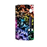Skin Decal Vinyl Wrap for Wisemec Reuleaux rx200 Vape Mod Box / Colorful smoke blowing
