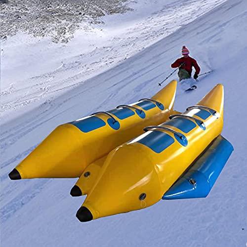 FHW Kayaks Inflables, Botes Banana AcuáTicos, Adecuados para El Surf Y El Esquí, Juguetes De Entretenimiento para Adultos Y NiñOs,Amarillo