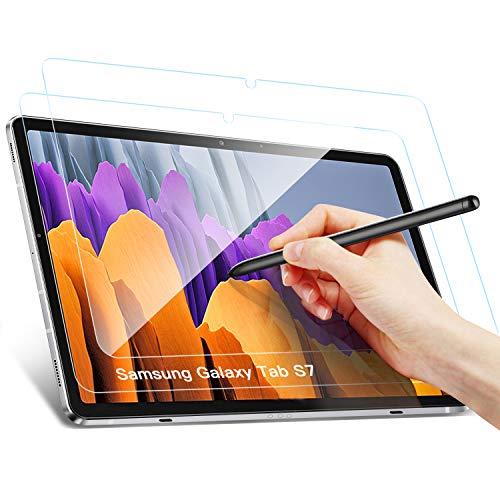 Benazcap Displayschutz für Samsung Galaxy Tab S7, Rounded Corners 2.5D, 9H Härte, gehärtetes Displayfolie Schutzglas Panzerglas für Samsung Galaxy Tab S7 11 Zoll 2020, 2 Stück