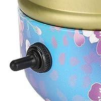 陶器機、DIYアルミターンテーブルの花柄セラミックスホイールマシン、ハンドクラフトクレイ用陶芸ホストは、陶器の機器を作ります(Transl)