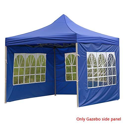 Tree2018 - Carpa lateral plegable de tela Oxford para exteriores, accesorios portátiles, reutilizables, impermeables, duraderos, resistentes al viento y a los rayos UV, 2 azules.