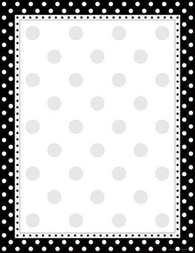 Barker Creek 8-1/2 x 11' Designer Computer Paper, Black & White Dot, 50-Sheets (LL-717)