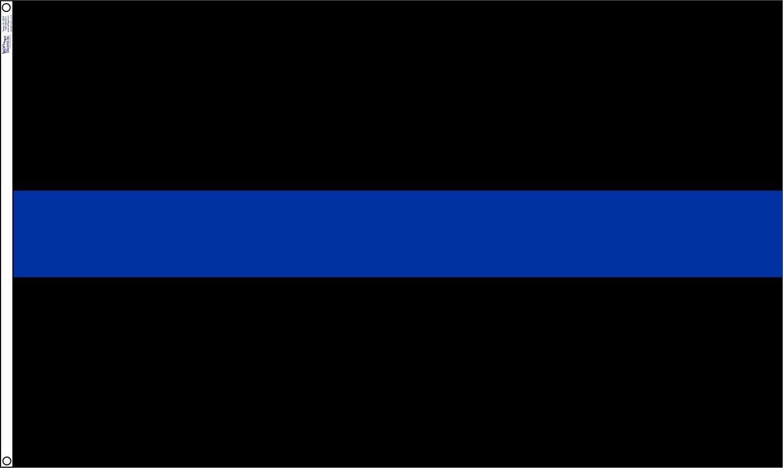 3 x 5 pies bandera de delgada línea azul Policía Cop bandera cosidos en Nylon rayas # 1 Calidad nosotros hecho: Amazon.es: Jardín