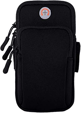 EXMART Arm Band Jogging Phone Holder,Up to 6.1 inches[Black]