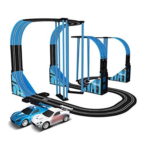 9m Slot Cars Track Racing Coche Aventura Pista Pista Niños Juguete Boy Electric Control Remoto Mano Pista Racer Racer Pista DIY Montaje Juguetes Juguetes Vehículo Playets Empalme Juguete