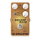 Caline Acoustic Guitar Simulator Pedal AC Simulated Reverb Effects Vintage Distortion Guitar Effects Pedal Metal True Bypass Golden Halo CP-35