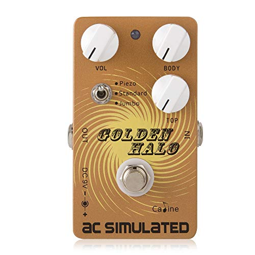 Caline pedals AC Simulated Reverb Effects Acoustic Simulator Electric Guitar Effects Pedal Golden Halo CP-35