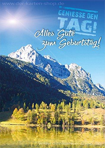 3 Stk. A6 Postkarte, Grußkarte, Karte, Geburtstagskarte Berge, Landschaft