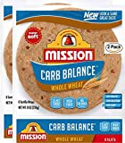 Mission Carb Balance Fajita Whole Wheat Tortillas, Low Carb, Keto, 8 Count - 2 Packs