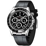 Pagani Design Daytona Homage Men's Quartz Watches Japan Movement Ceramic Bezel Silicone Band Screw-in Crown Waterproof Sport Chronograph Watch