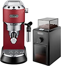 DeLonghi EC685R Bundle Beans Espresso Machine,Red - EC685.R + DeLonghi Coffee Grinder