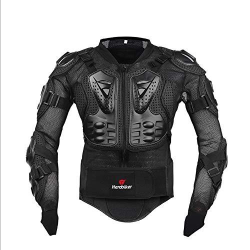 HCCX Motorrad-Reitpanzer – Rücken – Drop – Kollision – geeignet für Outdoor-Erwachsene – Skifahren – Skateboarden – Rennsport – Schwarz – Rot – Schwarz – M
